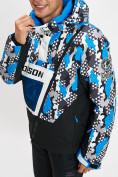 Оптом Горнолыжная куртка анорак мужская синего цвета 77027S в Екатеринбурге, фото 6