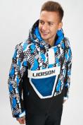 Оптом Горнолыжная куртка анорак мужская синего цвета 77027S в Екатеринбурге, фото 7