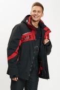 Оптом Горнолыжная куртка мужская большого размера красного цвета 77029Kr в Екатеринбурге, фото 10