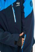 Оптом Горнолыжная куртка мужская большого размера синего цвета 77029S в Екатеринбурге, фото 13