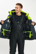 Оптом Горнолыжная куртка мужская большого размера зеленого цвета 77029Z в Екатеринбурге, фото 13