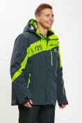 Оптом Горнолыжная куртка мужская большого размера зеленого цвета 77029Z в Екатеринбурге, фото 10