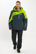 Оптом Горнолыжная куртка мужская большого размера зеленого цвета 77029Z в Екатеринбурге, фото 11