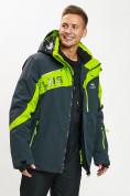 Оптом Горнолыжная куртка мужская большого размера зеленого цвета 77029Z в Екатеринбурге, фото 12