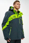 Оптом Горнолыжная куртка мужская большого размера зеленого цвета 77029Z в Екатеринбурге, фото 2