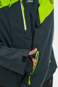 Оптом Горнолыжная куртка мужская большого размера зеленого цвета 77029Z в Екатеринбурге, фото 4