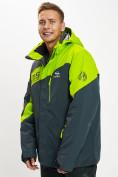 Оптом Горнолыжная куртка мужская большого размера зеленого цвета 77029Z в Екатеринбурге, фото 5