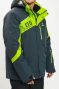 Оптом Горнолыжная куртка мужская большого размера зеленого цвета 77029Z в Екатеринбурге, фото 6