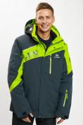 Оптом Горнолыжная куртка мужская большого размера зеленого цвета 77029Z в Екатеринбурге
