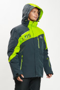 Оптом Горнолыжная куртка мужская большого размера зеленого цвета 77029Z в Екатеринбурге, фото 7