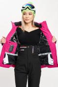 Оптом Горнолыжная куртка женская розового цвета 77030R в Екатеринбурге, фото 10