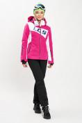 Оптом Горнолыжная куртка женская розового цвета 77030R в Екатеринбурге, фото 2
