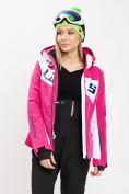 Оптом Горнолыжная куртка женская розового цвета 77030R в Екатеринбурге, фото 6