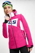 Оптом Горнолыжная куртка женская розового цвета 77030R в Екатеринбурге, фото 3