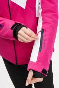 Оптом Горнолыжная куртка женская розового цвета 77030R в Екатеринбурге, фото 9