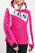Оптом Горнолыжная куртка женская розового цвета 77030R в Екатеринбурге, фото 4