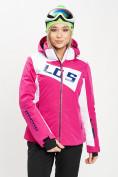 Оптом Горнолыжная куртка женская розового цвета 77030R в Екатеринбурге, фото 5