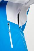 Оптом Горнолыжная куртка женская синего цвета 77030S в Екатеринбурге, фото 8
