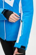 Оптом Горнолыжная куртка женская синего цвета 77030S в Екатеринбурге, фото 9