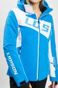 Оптом Горнолыжная куртка женская синего цвета 77030S в Екатеринбурге, фото 7