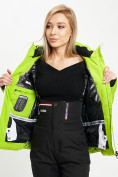 Оптом Горнолыжная куртка женская зеленого цвета 77030Z в Екатеринбурге, фото 12