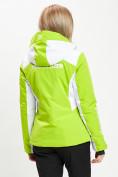 Оптом Горнолыжная куртка женская зеленого цвета 77030Z в Екатеринбурге, фото 9