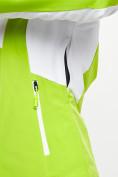 Оптом Горнолыжная куртка женская зеленого цвета 77030Z в Екатеринбурге, фото 10