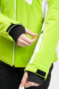 Оптом Горнолыжная куртка женская зеленого цвета 77030Z в Екатеринбурге, фото 11