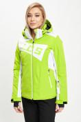 Оптом Горнолыжная куртка женская зеленого цвета 77030Z в Екатеринбурге, фото 6