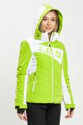 Оптом Горнолыжная куртка женская зеленого цвета 77030Z в Екатеринбурге, фото 8