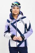 Оптом Горнолыжная куртка женская фиолетового цвета 77031F в Екатеринбурге