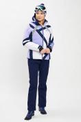 Оптом Горнолыжная куртка женская фиолетового цвета 77031F в Екатеринбурге, фото 6