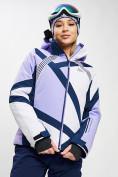 Оптом Горнолыжная куртка женская фиолетового цвета 77031F в Екатеринбурге, фото 2