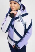 Оптом Горнолыжная куртка женская фиолетового цвета 77031F в Екатеринбурге, фото 7
