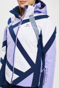 Оптом Горнолыжная куртка женская фиолетового цвета 77031F в Екатеринбурге, фото 3
