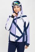 Оптом Горнолыжная куртка женская фиолетового цвета 77031F в Екатеринбурге, фото 4