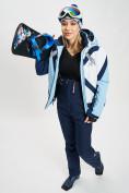 Оптом Горнолыжная куртка женская голубого цвета 77031Gl в Екатеринбурге, фото 11