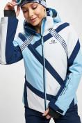 Оптом Горнолыжная куртка женская голубого цвета 77031Gl в Екатеринбурге, фото 3