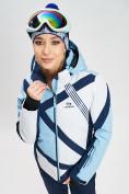 Оптом Горнолыжная куртка женская голубого цвета 77031Gl в Екатеринбурге, фото 4