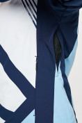 Оптом Горнолыжная куртка женская голубого цвета 77031Gl в Екатеринбурге, фото 9