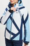 Оптом Горнолыжная куртка женская голубого цвета 77031Gl в Екатеринбурге, фото 6