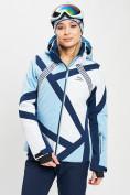 Оптом Горнолыжная куртка женская голубого цвета 77031Gl в Екатеринбурге, фото 7