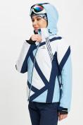 Оптом Горнолыжная куртка женская голубого цвета 77031Gl в Екатеринбурге, фото 8