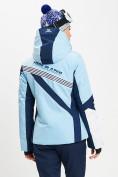 Оптом Горнолыжная куртка женская голубого цвета 77031Gl в Екатеринбурге, фото 5