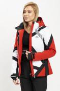 Оптом Горнолыжная куртка женская красного цвета 77031Kr в Екатеринбурге, фото 8