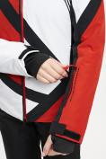 Оптом Горнолыжная куртка женская красного цвета 77031Kr в Екатеринбурге, фото 11