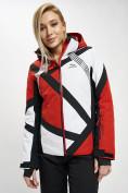 Оптом Горнолыжная куртка женская красного цвета 77031Kr в Екатеринбурге, фото 2