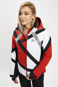 Оптом Горнолыжная куртка женская красного цвета 77031Kr в Екатеринбурге, фото 4