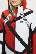 Оптом Горнолыжная куртка женская красного цвета 77031Kr в Екатеринбурге, фото 9