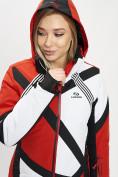Оптом Горнолыжная куртка женская красного цвета 77031Kr в Екатеринбурге, фото 5